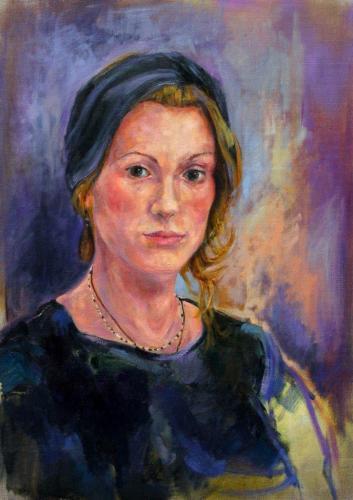 Porträt (Öl auf Leinwand), HOPP´s MAL Kunstschule