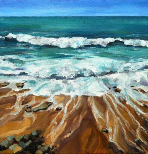 Am Meer (Öl auf Leinwand), HOPP´s MAL Kunstschule