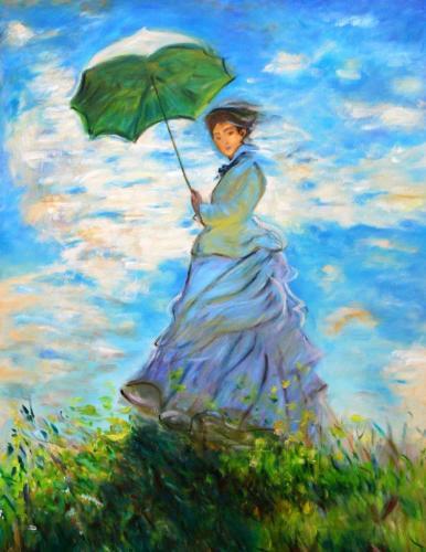 Malerei in Anlehnung an Monet (Öl auf Leinwand), HOPP´s MAL Kunstschule