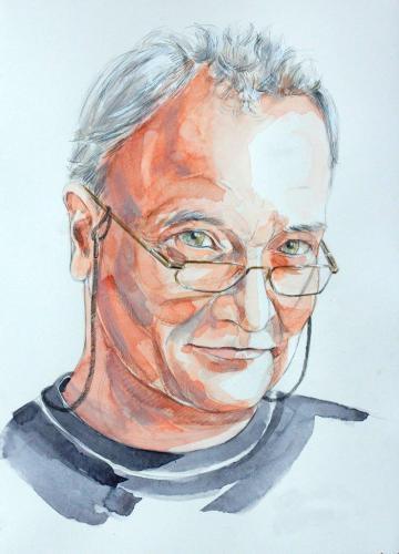 Ein Freund (colorierte Zeichnung auf Papier), HOPP´s MAL Kunstschule