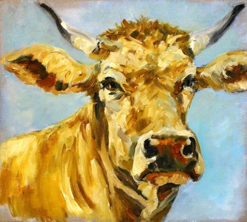 Kuh (Öl auf Leinwand), HOPP´s MAL Kunstschule
