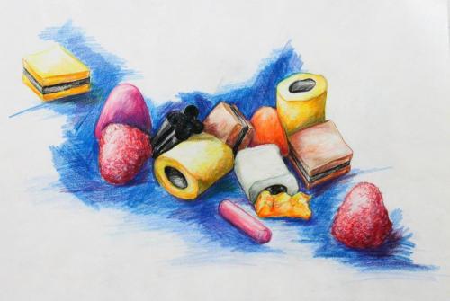 Haribo (Buntstift auf Papier), HOPP´s MAL Kunstschule