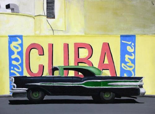 Auto (Acryl auf Leinwand), HOPP´s MAL Kunstschule