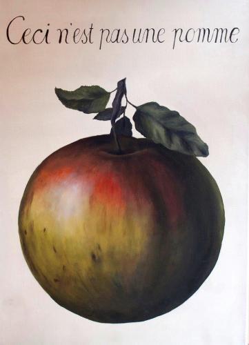 Apfel nach René Magritte (Acryl auf Leinwand), HOPP´s MAL Kunstschule