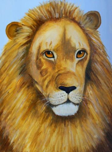 Löwe (Acryl auf Leinwand), HOPP´s MAL KUnstschule