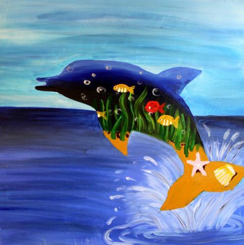 Acrylfarbe auf Leinwand nach Werken René Magrittes gestaltet, HOPP´s MAL Kunstschule